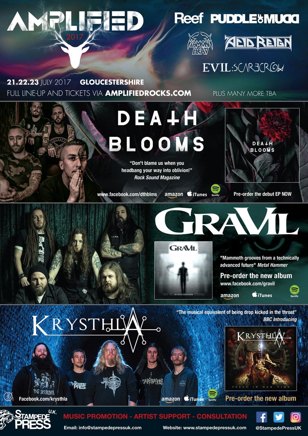 Stampede-Press_Amplified-Festival_Death-Blooms_GraVIL_Krysthla_Advert_Metal-Hammer